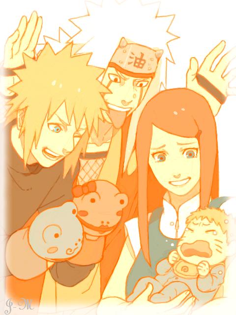 ~ Minato, Kushina, Jiraya & Naruto ~