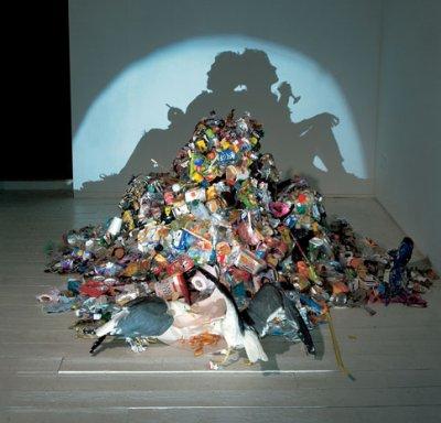 Les ombres chinoises avec des déchets