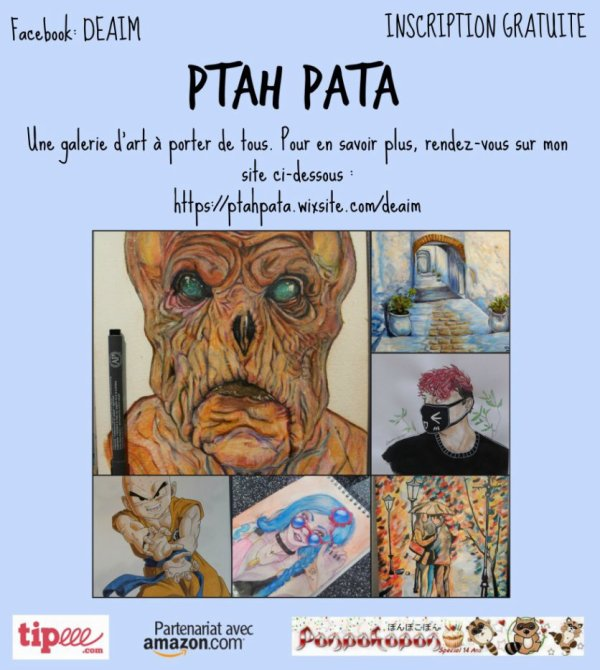 """Inscrivez -vous vite sur """"  Ptah Pata """"   pour exposer vos dessins    !"""