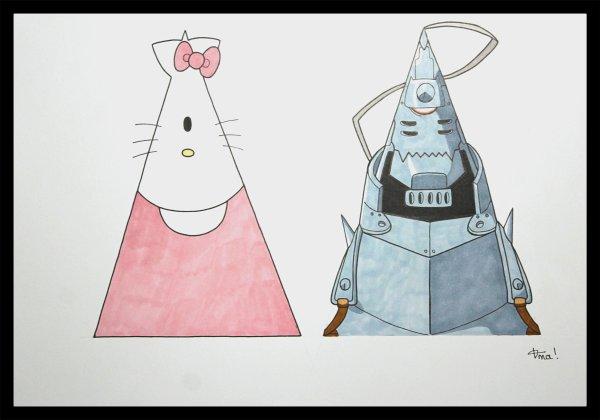 Hello Kitty & Alphonse Elric - Ordo-Illuminatee.