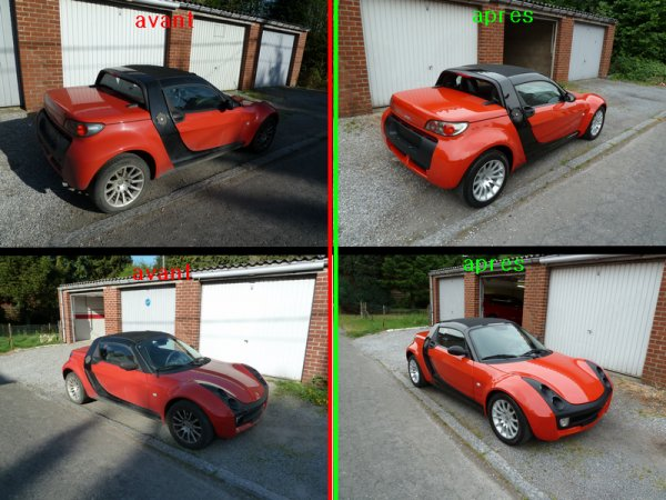 Rénovation smart roadster