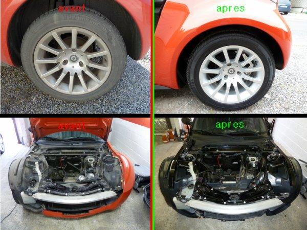 Rénovation smart roadster