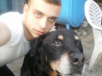 mon bebe et son chien