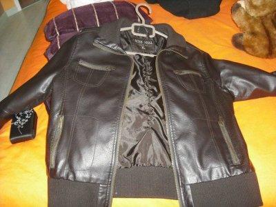Blouson XL noir (marron foncé) neuf