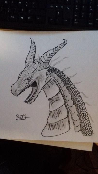 Et voilà mon dernier dessin, se que je fais quand je m'ennuis ! :D <3