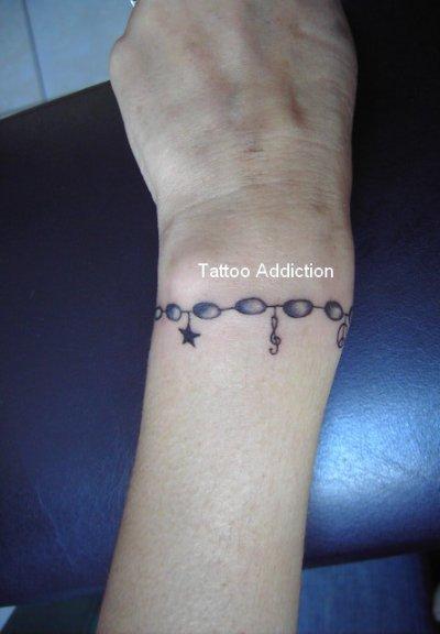 bracelet tattoo addict. Black Bedroom Furniture Sets. Home Design Ideas