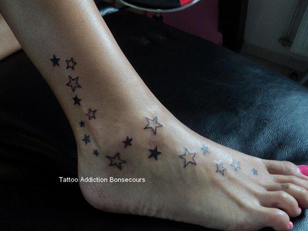 Pluie d'étoiles sur le pieds