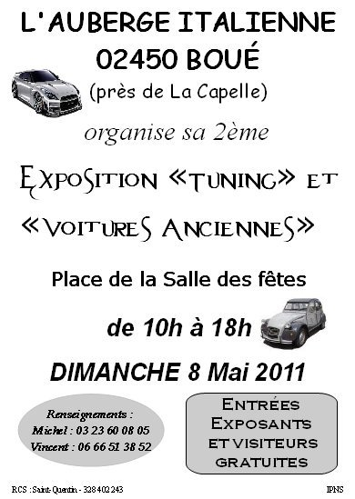DIMANCHE DIRECTION EXPO A BOUE.
