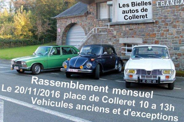 RASSEMBLEMENT AUTOS A COLLERET NOVEMBRE 2016.