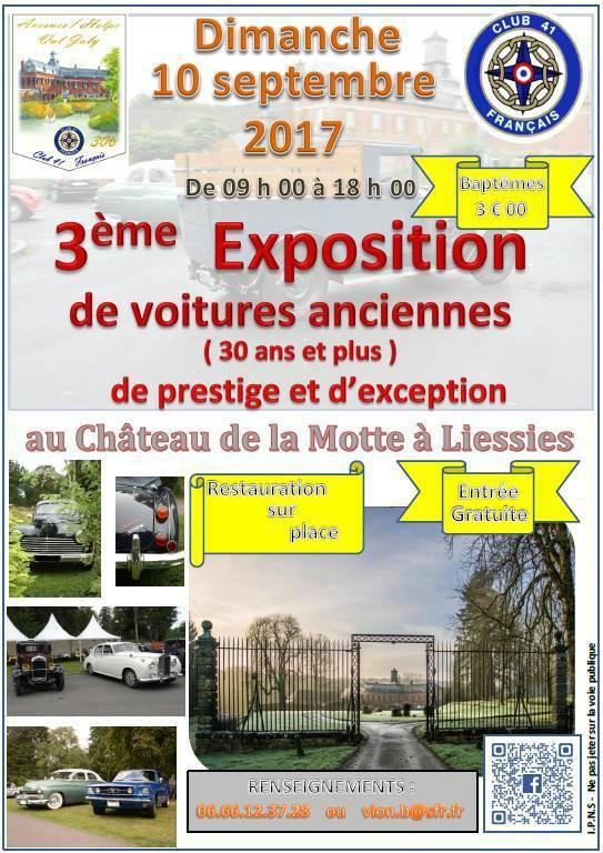 EXPO AU CHATEAU DE LA MOTTE A LIESSIES.