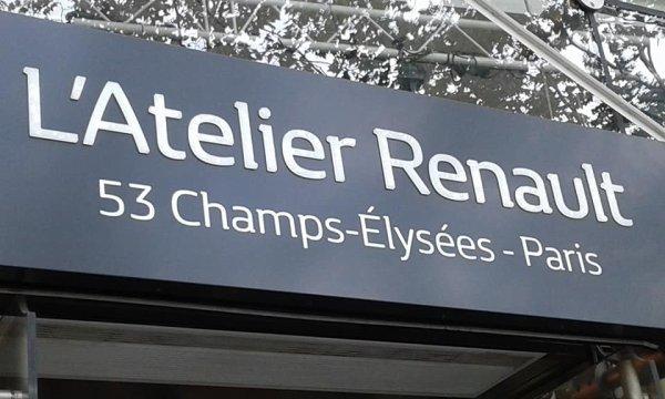 L'ATELIER RENAULT SUR LES CHAMPS ELYSEES.