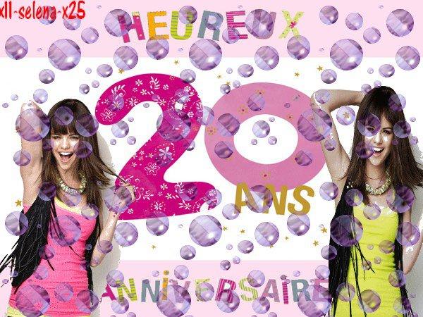 Selena a 20 ans =)