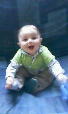 mon fils lorenzo agge de  10 mois dans 3 jours