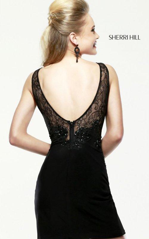 Sherri Hill 4328 Short Lace Dresses 2016