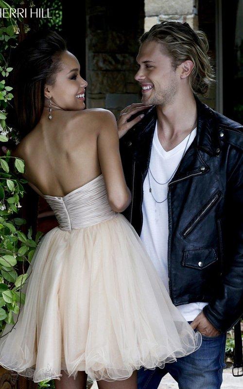 Sherri Hill 21190 Beads Tulle Homecoming Dress