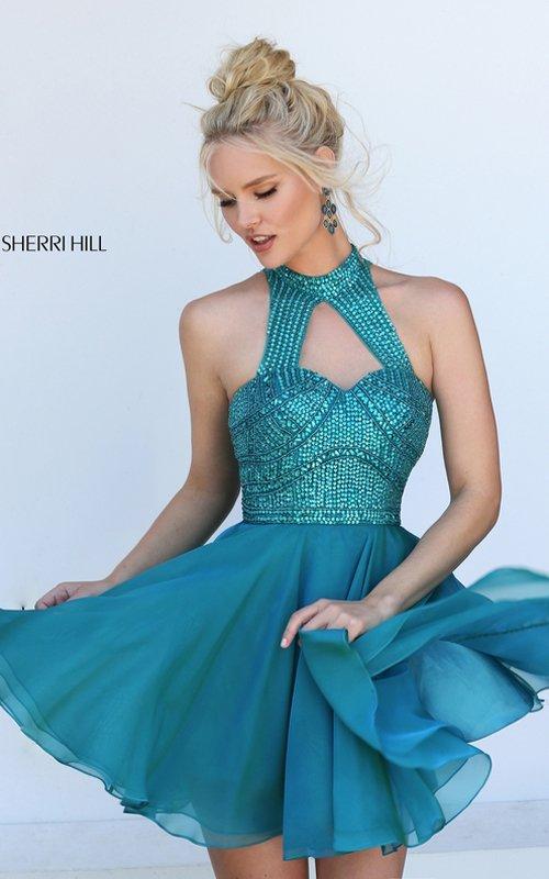 Sherri Hill 50519 Beads Chiffon Short Homecoming Dress