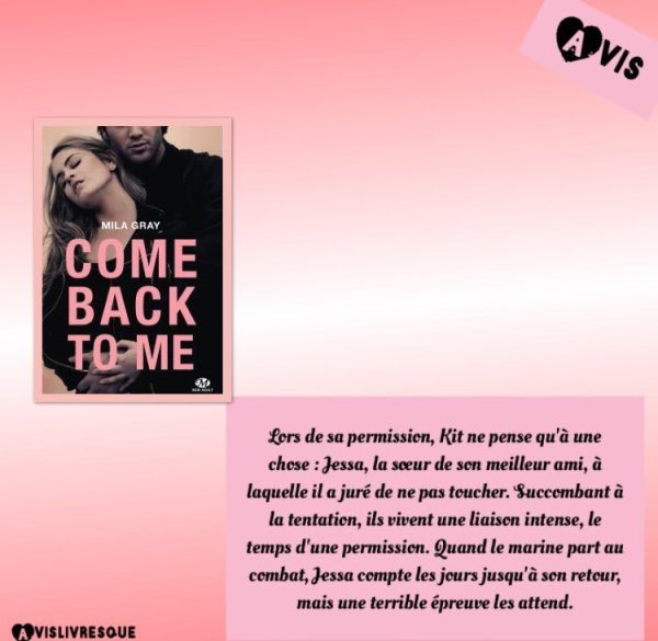 Come back to me de Mila Gray