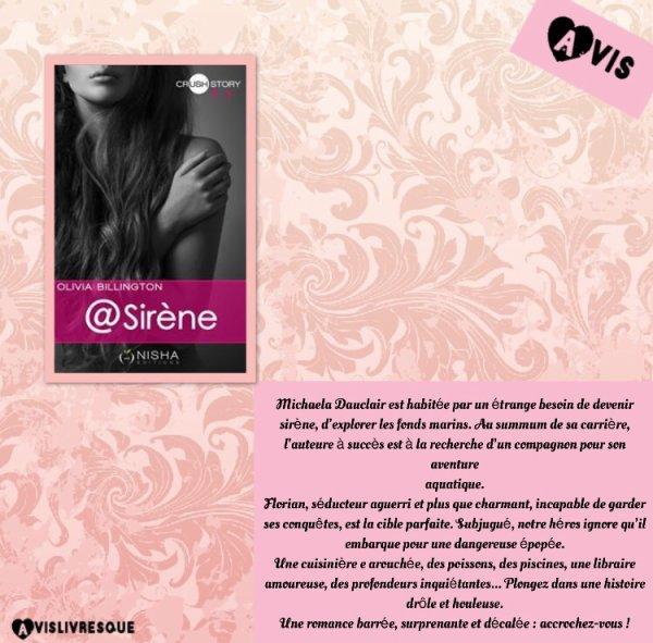 @Sirene Tome 1 d'Olivia Billington