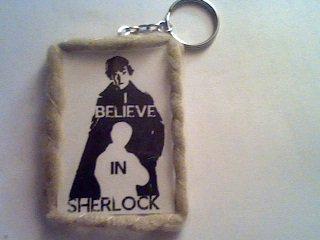 """Voyage en Angleterre oblige... Fabrication d'un Porte-clefs """" I Believe In Sherlock """""""