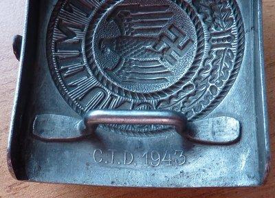 Boucle de ceinturon  Heer de Firme Christian Théodore Dicke