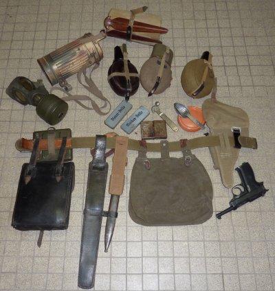 matériel composant la charge du soldat Africa Korps