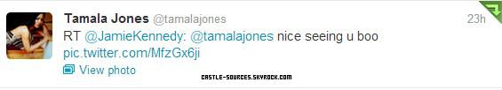 Castle   Sneak Peek 5x07    Castle   Tamala Jones & Molly Quinn - Twitter