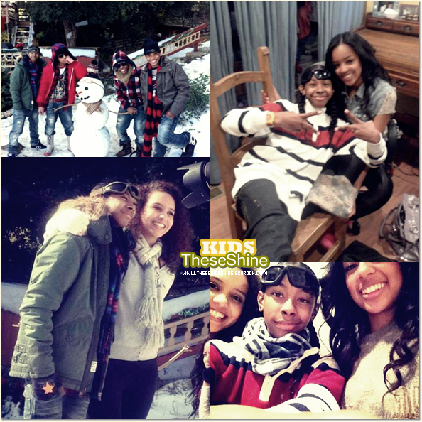 » Mindless Behavior sur le tournage de Christams With My Girl.