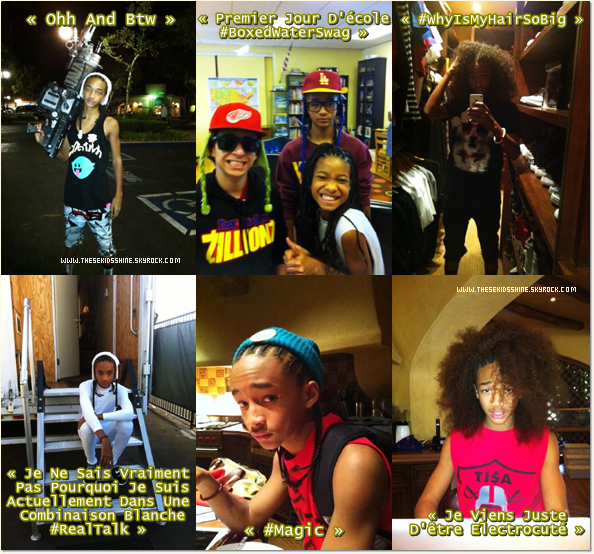 » Photos provenant du twitter de Jaden Smith.