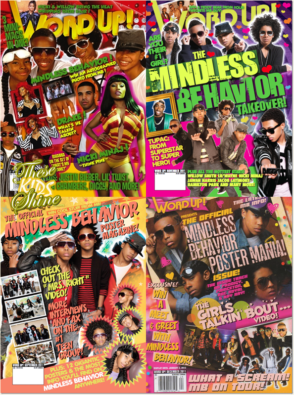 » Mindless Behavior en couverture du magasine World Up !