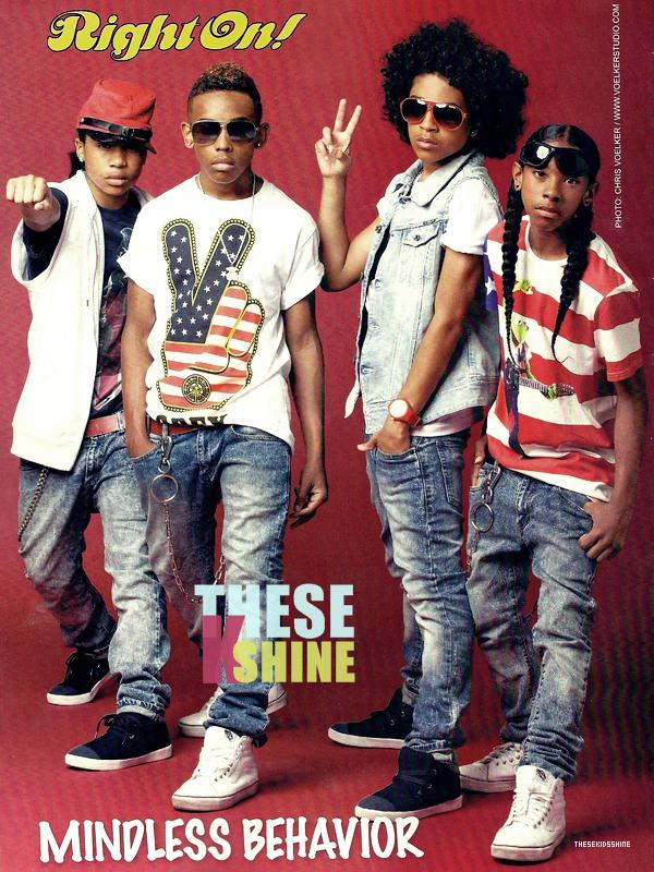 » Right On ! Découvrez un scan du groupe pour le magasine américain Right On du mois de Mars 2012. Comment les trouvez vous ?