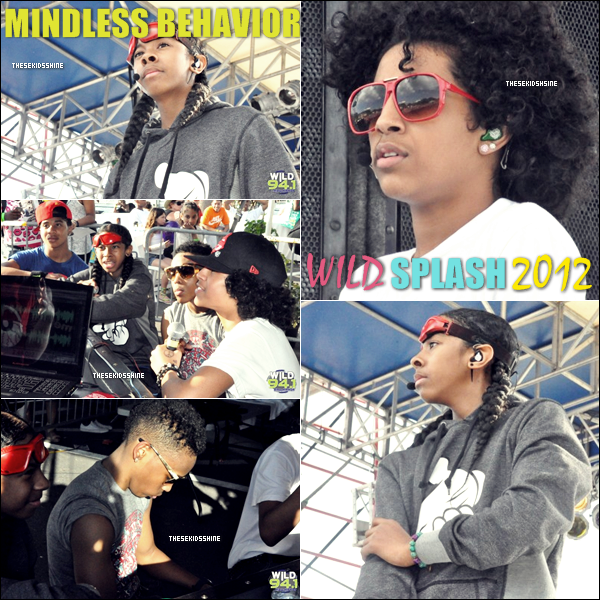 Mindless Behavior au Wild Splash au Coachman Parc, à Clearwater, dans l'Etat de Floride.