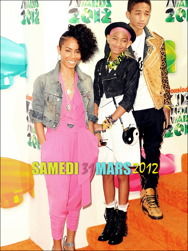 Les Smith sur le tapis orange des Kids Choice Awards hier à Los Angeles. Top ou Flop ?