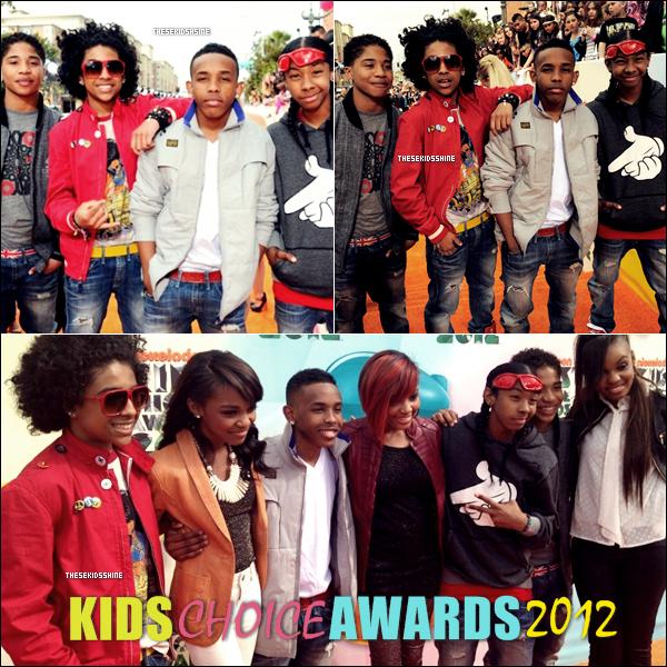 Mindless Behavior à la cérémonie des Kids Choice Awards hier. Comment les trouvez vous?
