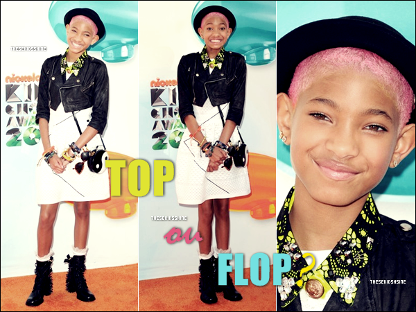 Willow Smith au Kids Choice Awards : Quelle tenue préférez-vous ? Celle de 2011 ou 2012 ?