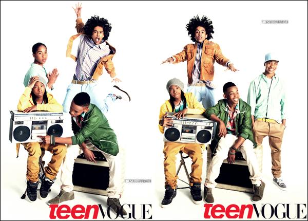 Découvrez des photos ( + une vidéo ) d' un récent shoot de Mindless Behavior pour Teen Vogue !