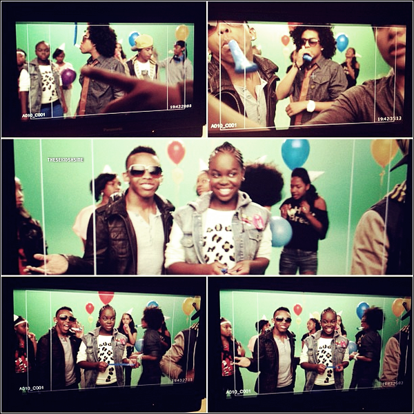 Le groupe a tourné son premier spot publicitaire il y quelques jours en compagnie de Diggy Simmons et de Cori Broadus, la fille du rappeur Snoop Dogg. Découvrez des photos du tournage ci-dessous !