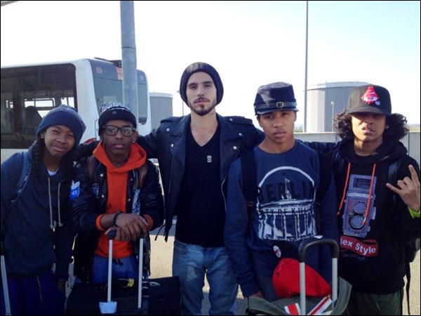 Princeton, Ray Ray, Prodigy et Roc Royal lors de leur arrivée en Angleterre il y a quelques jours.