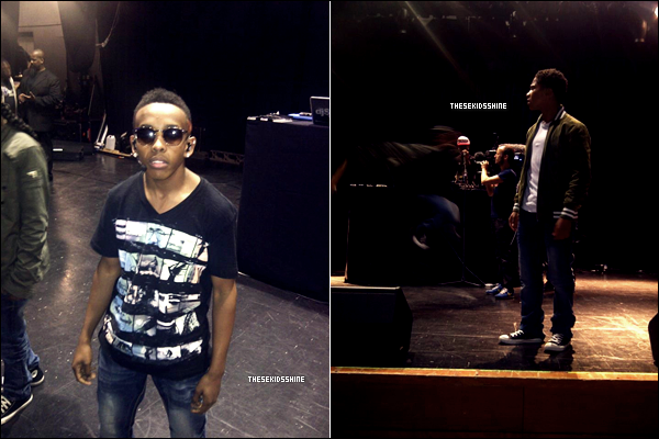 Mindless Behavior pendant les répétitions pour leur concert à Londres, lundi 30 avril 2012.