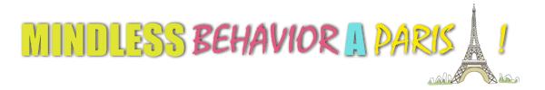 Mindless Behavior à Paris : mardi 01 mai concert au Bataclan - mercredi 02 mai dédicace à la Fnac
