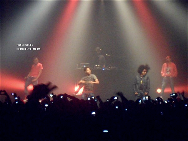 Mindless Behavior de passage dans les studios de Dream'Up à Paris, mercredi 02 mai.