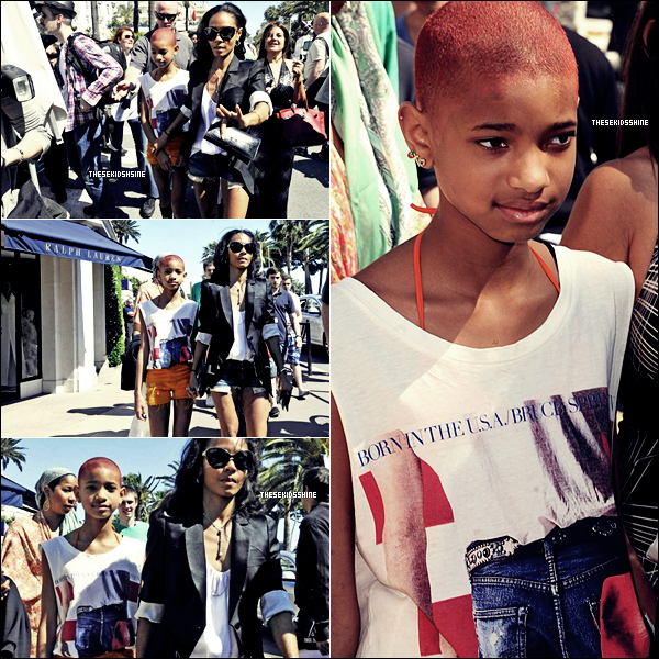 Willow, toujours accompagnée de sa maman Jada, dans les rues de Cannes ce mercredi 16 mai.