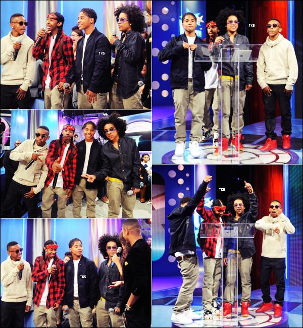 Découvrez des photos du groupe lors de leur récent passage dans l'émission 106 & Park à New York. N'oubliez pas que les garçons sont nominés deux fois à la cérémonie des BET awards 2012. Votez pour eux ici !