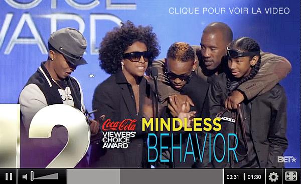 01.07.2012 Mindless Behavior à la cérémonie des BET Awards 2012. Découvrez l'actu du groupe  au fil de la soirée  en photos !