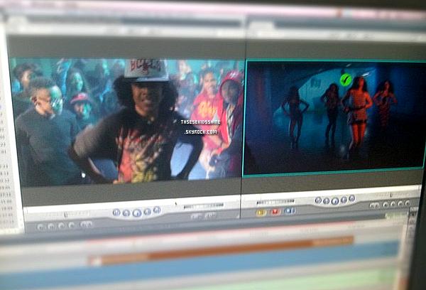 Découvrez différentes photos de Mindless Behavior sur le tournage / dans les coulisses d'un clip du girls band Lil Ms.