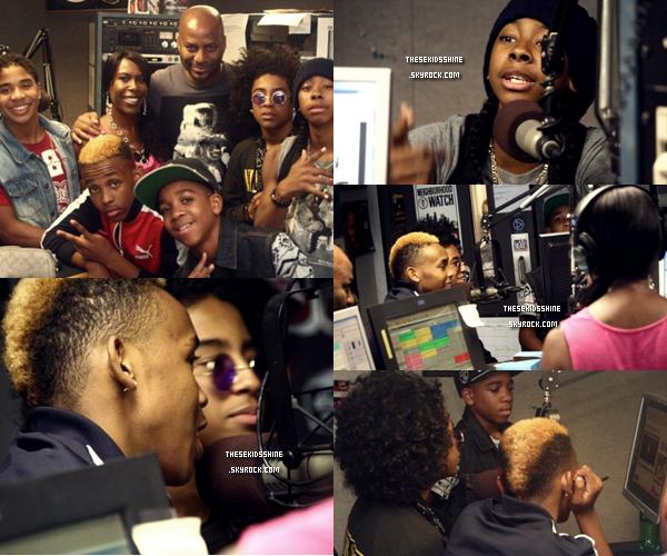 20.07.2012 Mindless Behavior à Nasville pour le #1 Girl Tour - Ils ont réalisé un Web Chat et une interview avec la radio 1011 The Beat.