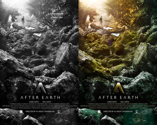 Sony Pictures dévoile la toute première affiche du prochain film de Jaden & Will Smith : After Earth.