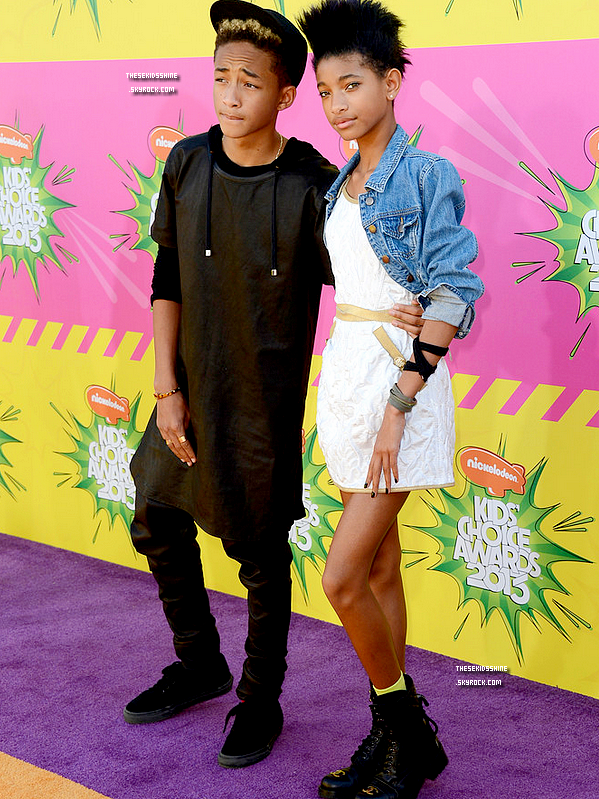 » Nouveauté.  Jaden et Willow Smith aux Kids Choice Awards 2013 // 23 Mars 2013