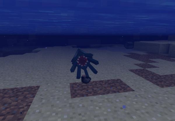 aver vous déjà vue... le cul d'un poulpe sur minecraft?.!?§