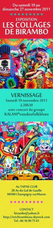 EXPOSITION DU 19 au 27 NOVEMBRE 2011