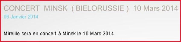 MM - Concert à Minsk Bielorussie - Mars 2014